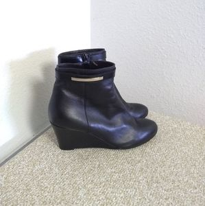 AGL Black Leather Ankle Boots